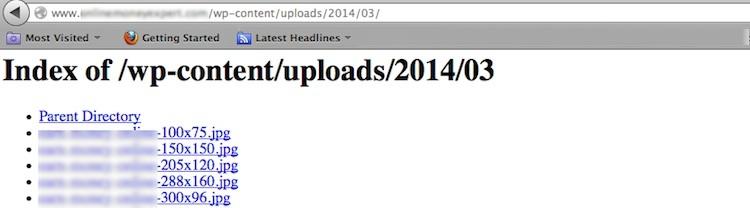 website file directory